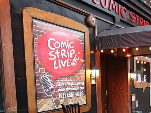 comic strip entrance upper east side manhattan new york city