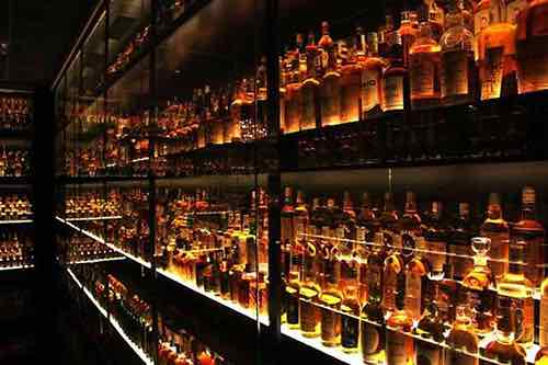 whiskey wall caledonia bar on upper east side manhattan new york city