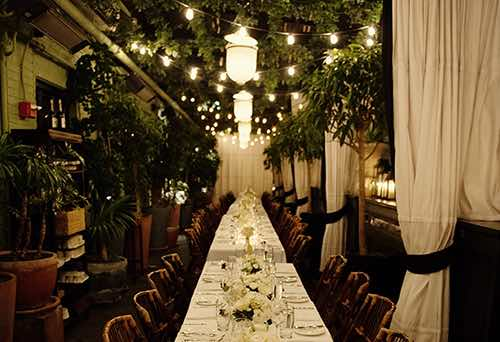 long table at gramercy park terrace
