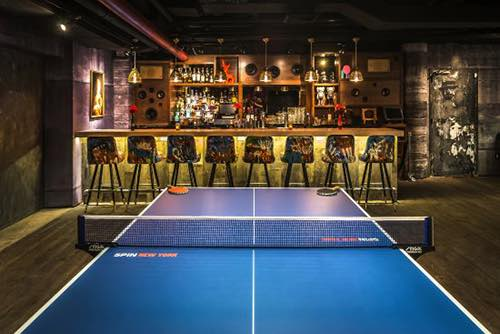 spin table tennis bar view