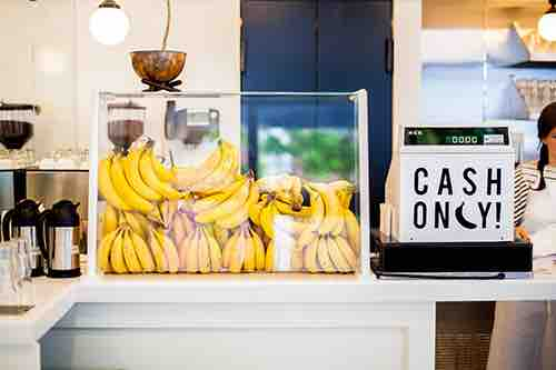 bananas at morgensterns ice cream