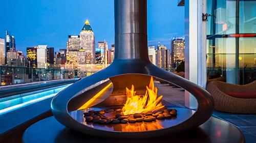 press lounge fire pit ink 48 hotel manhattan new york city
