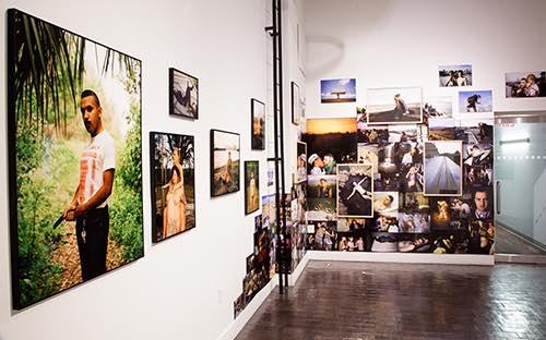 inside gallery at tisch school