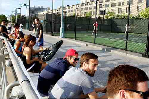 hudson river tennis courts waiting area