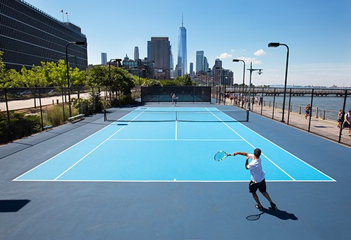 hudson river tennis courts
