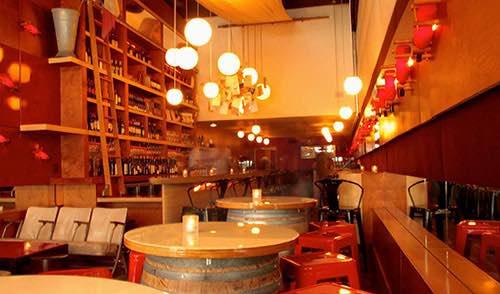 bar at amelie wine bar in the village manhattan new york city