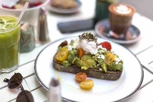 bluestone lane avocado toast upper east side manhattan new york city, ny