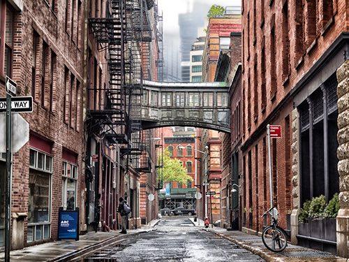 staple bridge skyway tribeca manhattan new york city