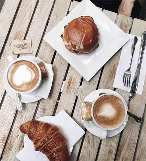 Financier Patisserie Coffee Shot Cedar Street Manhattan New York City, NY