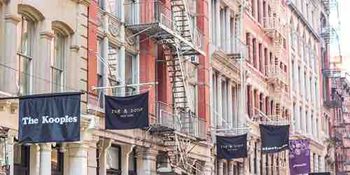 soho store fronts broadway shopping