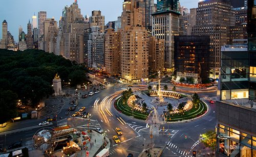 columbus circle central park west manhattan new york city ny