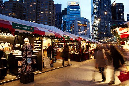 columbus circle holiday market manhattan new york city ny