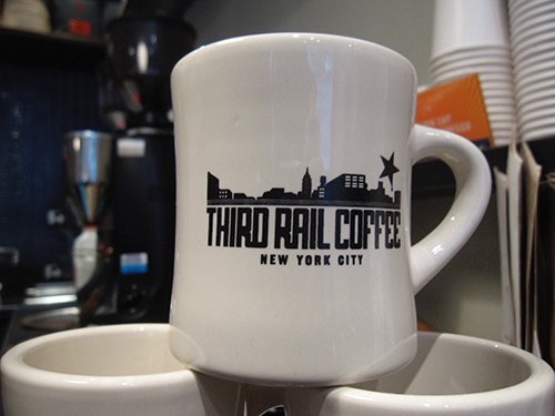 third rail coffee shop mug greenwich village manhattan new york city