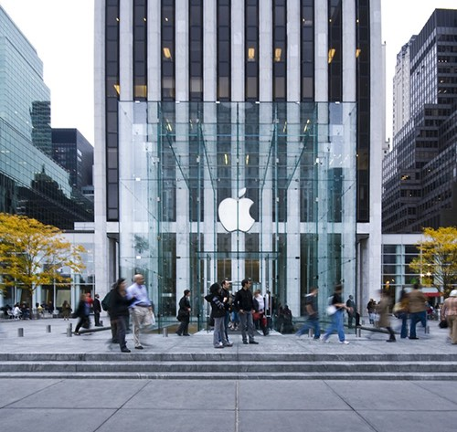 apple store on 5th avenue in midtown manhattan new york city, ny