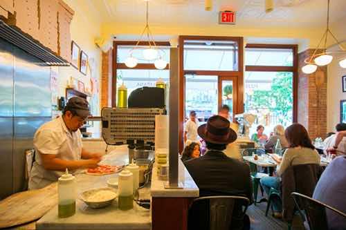 motorino neapolitan style pizzeria inside upper west side manhattan new york city
