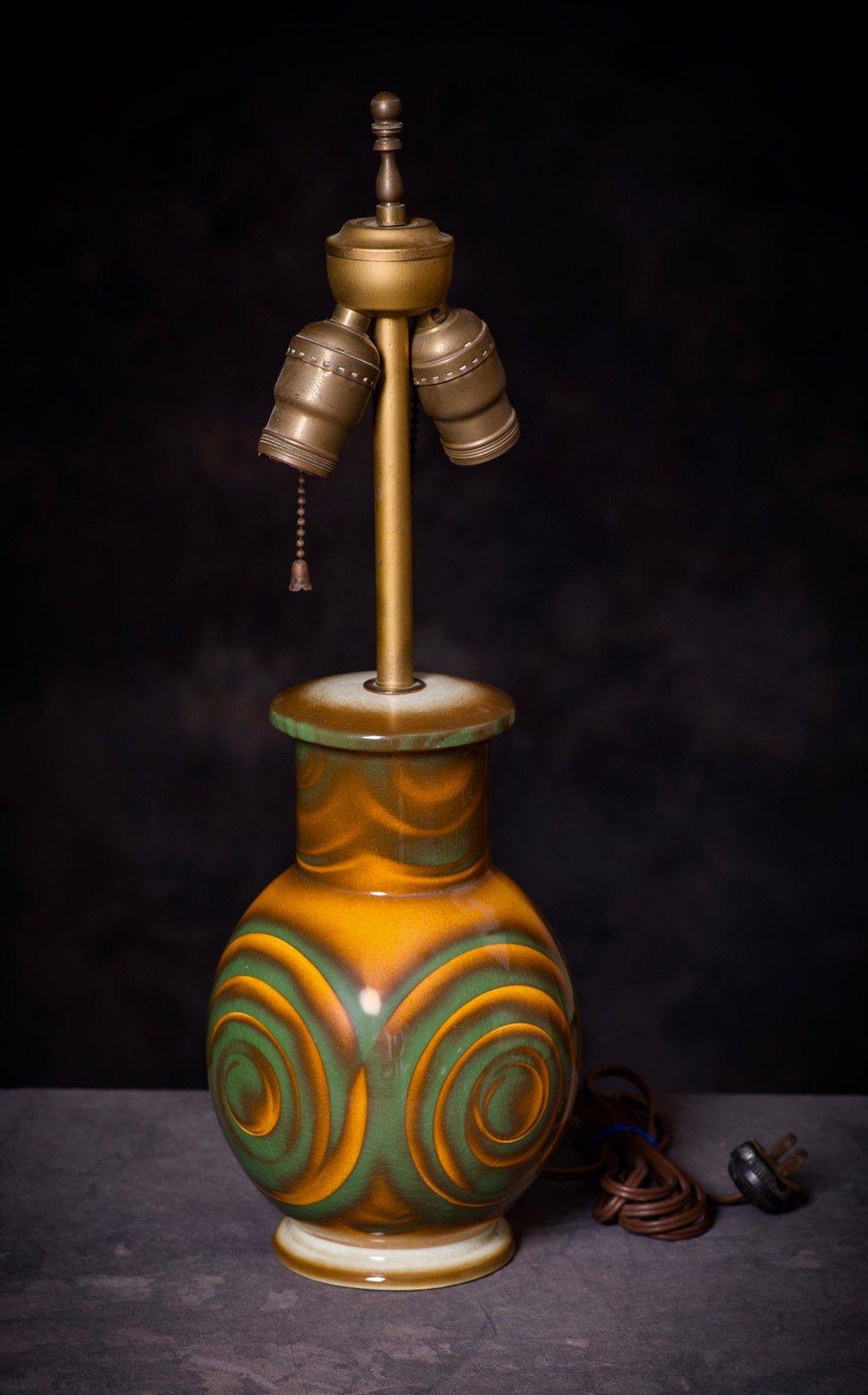 "#1 Lamp, form ""Uranus,"" dec.376, Carstens – Gräfenroda, ca.1928-1930. Black mfr.; 24.5 cm H, 10.3 cm base Ø. RM2306"