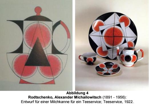 "Rodtschenko"" Design for a Milk Pitcher for a Tea Service; A Tea Service, 1922"