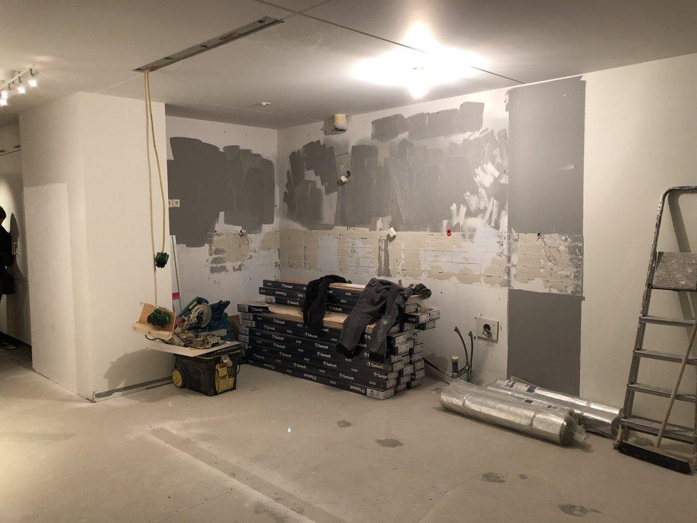 Köket är utrivet, och så även väggen som stod i vägen och dolde hela utsikten.