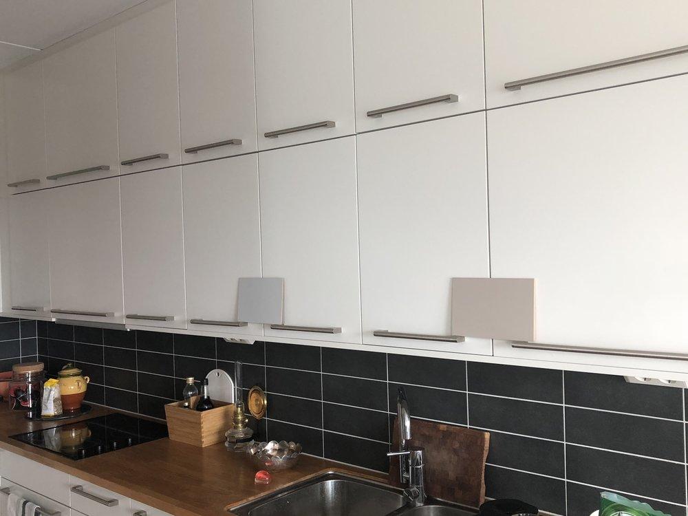 Testar färger till nya köket