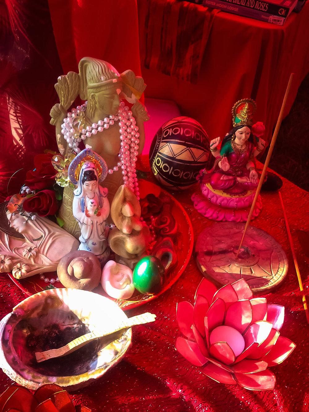Altar @ Brushwood Women's Retreat 2015