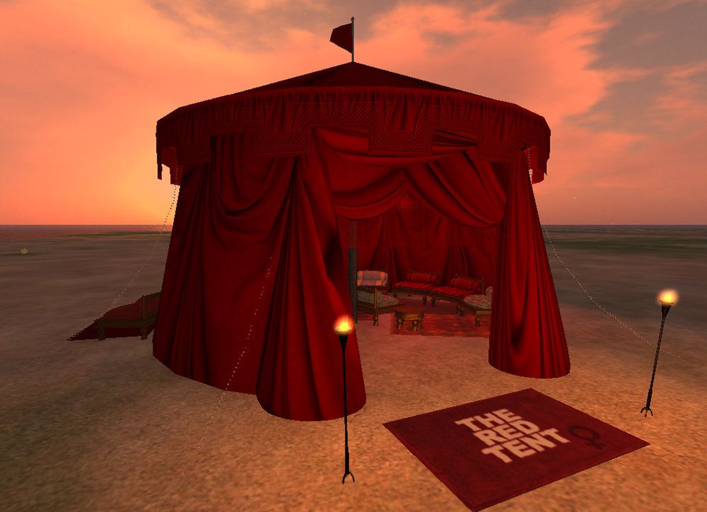 Second Life Virtual Red Tent 2013