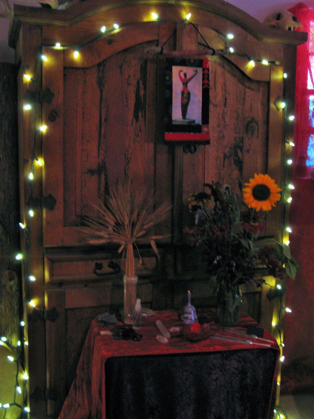 Lammas Altar Hearthstone Temple Red Tent 2015