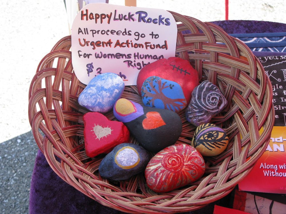 Happy Luck Rocks by Denise