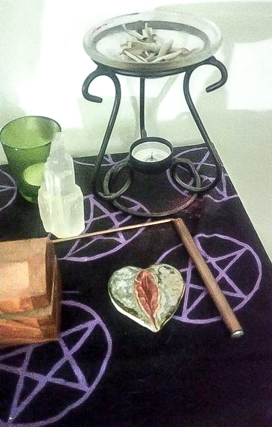 Yoni Heart on Altar by Denise