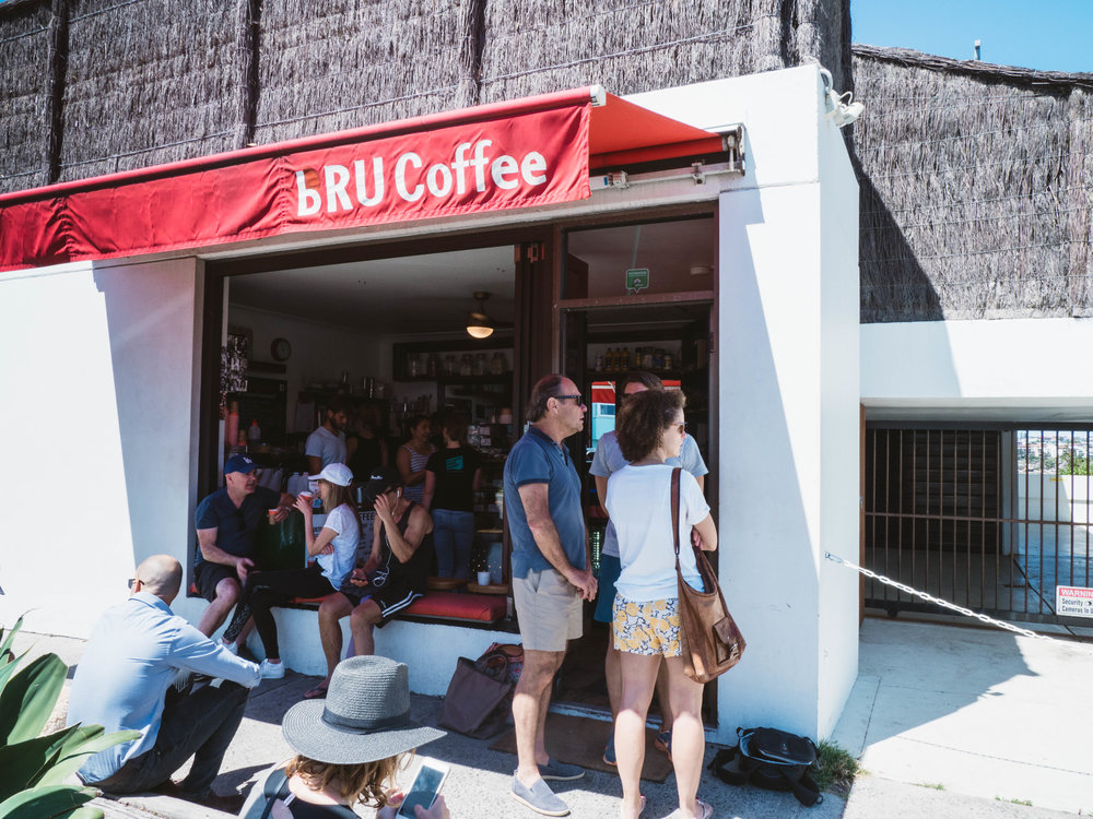 Bru Coffee in North Bondi are sustainability leaders with their Cup Exchange