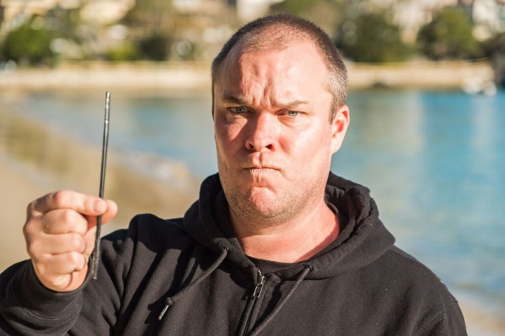 4 Pines Head Brewer, Tweeds, not stoked about a plastic straw found during a beach clean. 4 Pines banned the use of all straws in early 2017.