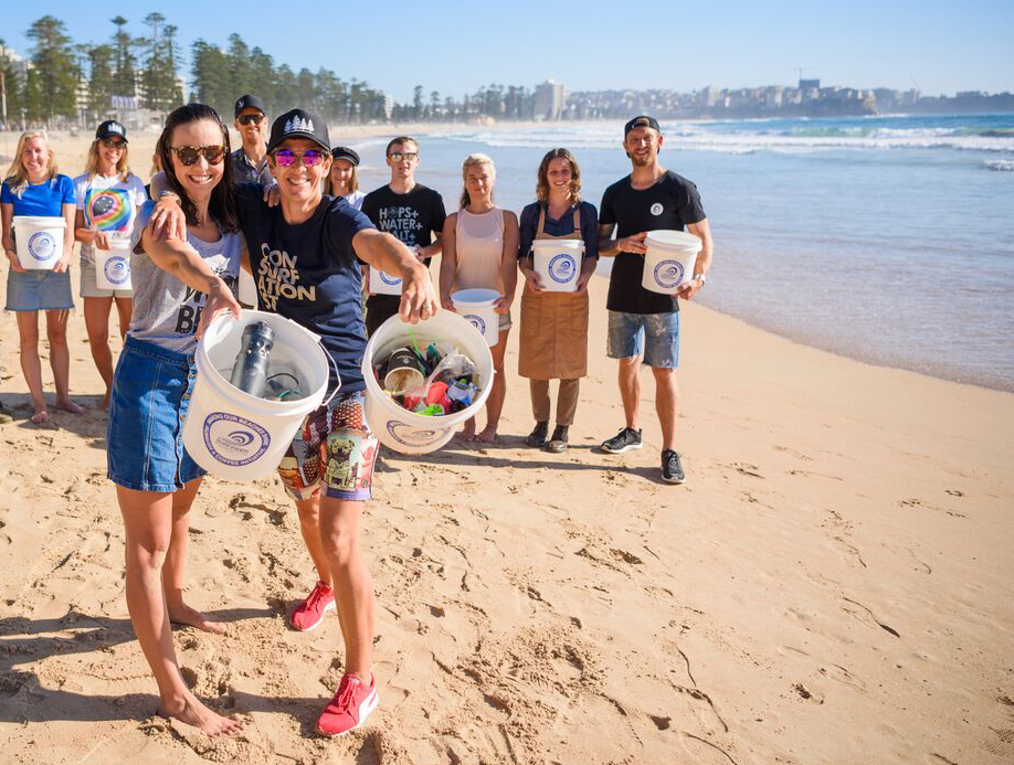 4 Pines Partnered with Surfrider Foundation for the Rubbish 4 Coffee Initiative by providing re-purposed buckets from brewing Ginger Beer to local cafes to keep our beaches clean.