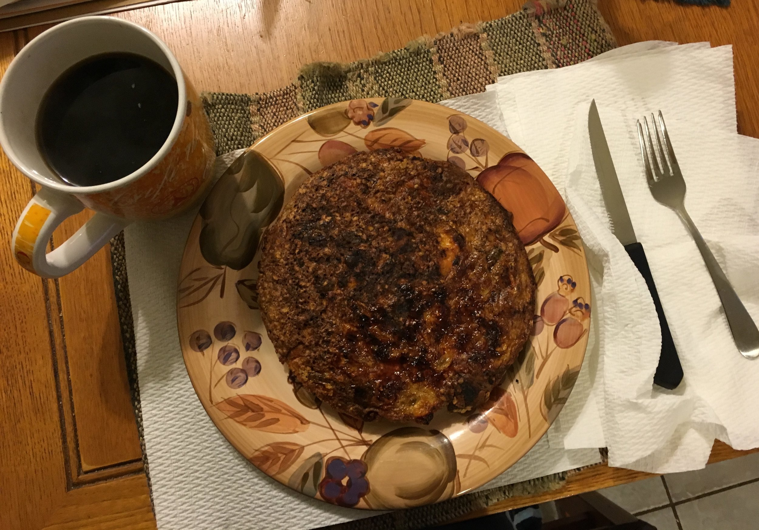 "Sweet Potatoe pancake & Celeste's ""Crack"" Coffee"