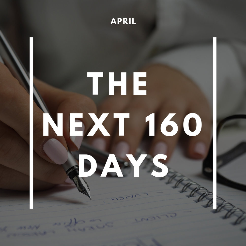 planning made ACHIEVABLE. - In April, you will take goal setting to a more micro level by honing in on what you want to achieve over the next 160 days.