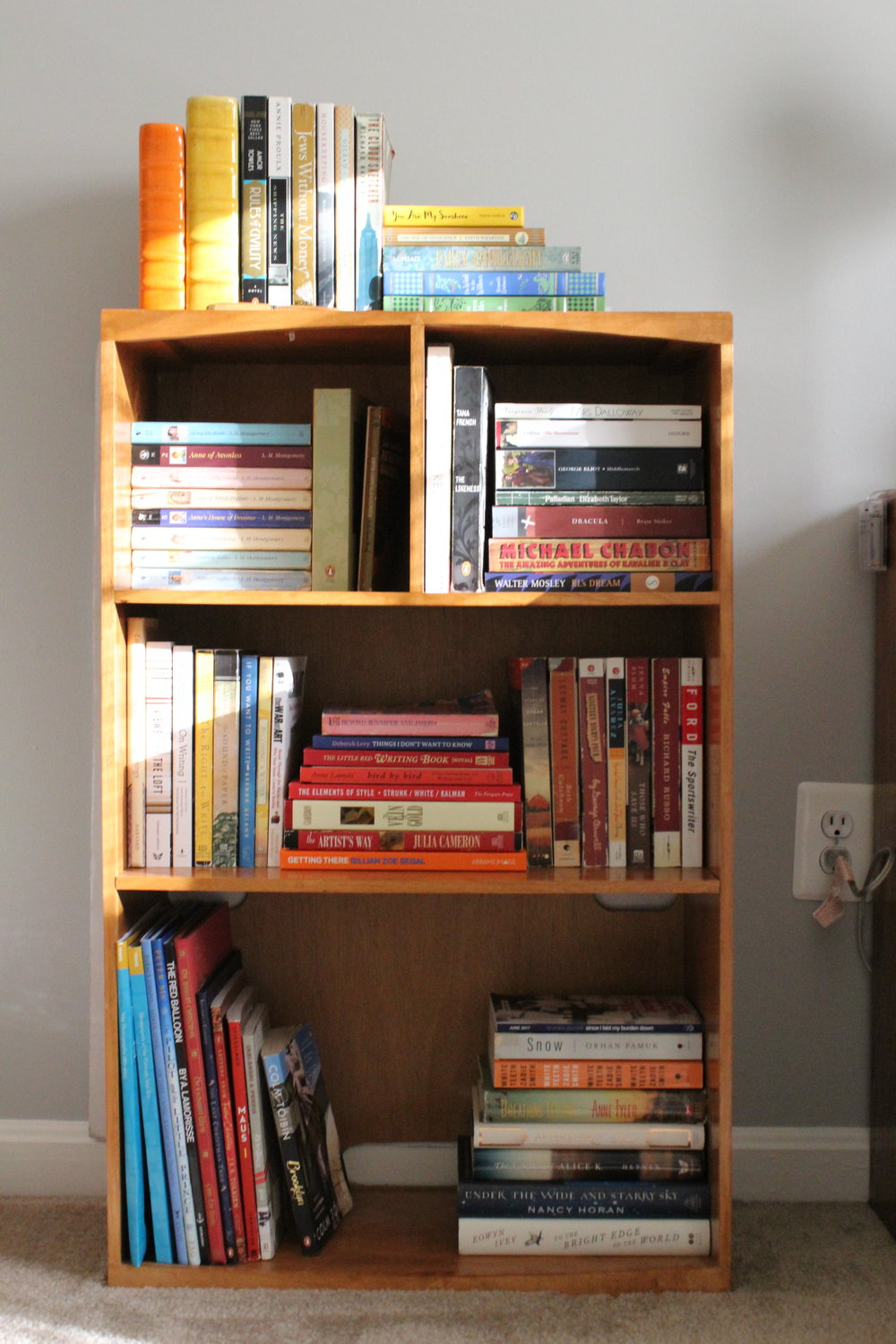 home decor office bookshelf shelf styling.JPG