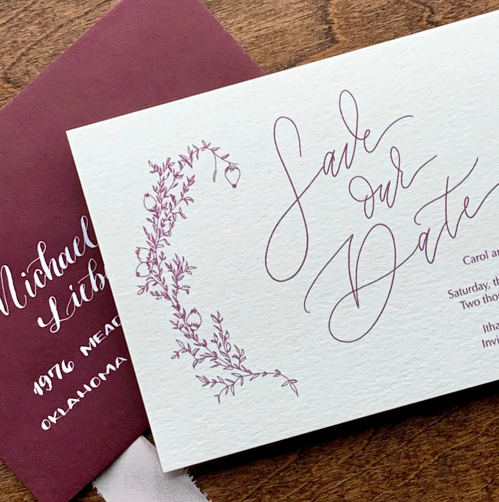 The Wedding Collection - our Semi-Custom collection of Save the Date is here