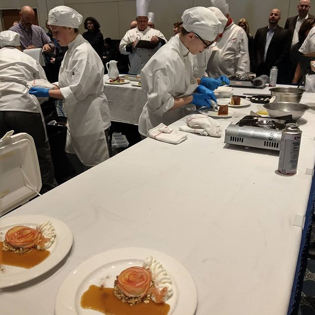 Great job to all of the competitors at @paprostart young talent showing us what hard work can get you #talent #hardwork #culinary #nomnom #yummy #tasty