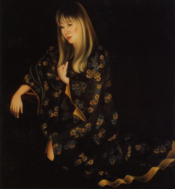 Self-Portrait in Kimono