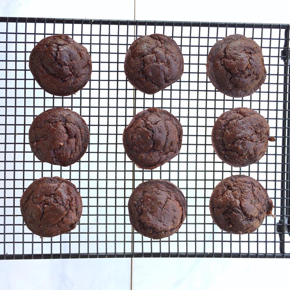 6 Ingredient Chocolate Hazelnut Zucchini Paleo Muffins - Low Sugar, Gluten & Dairy Free