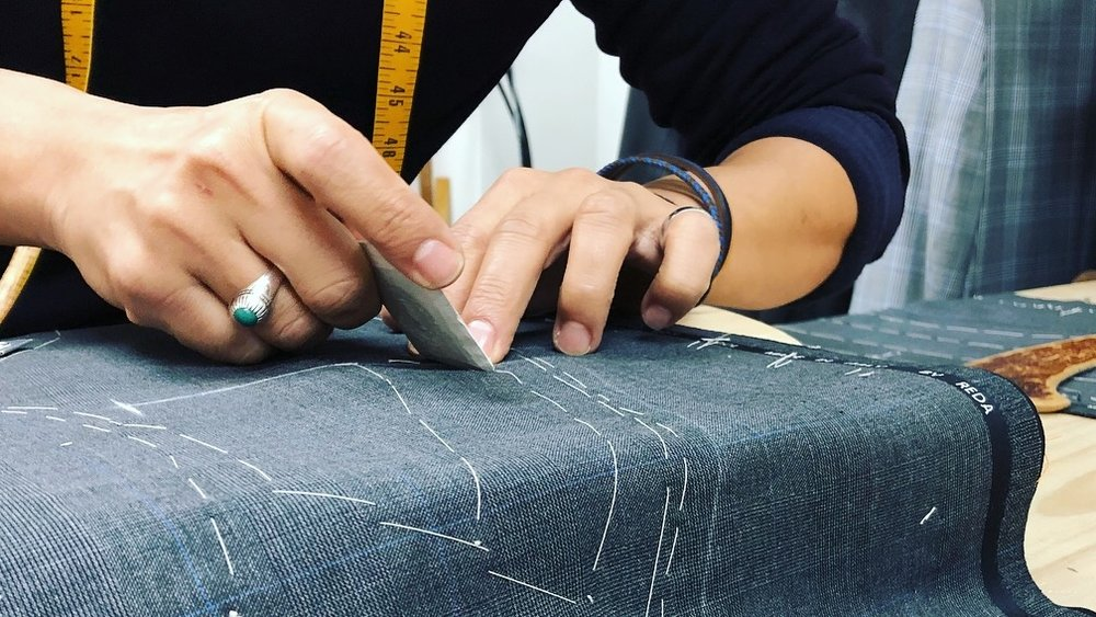 Construction - Our master tailors construct your suit by hand.