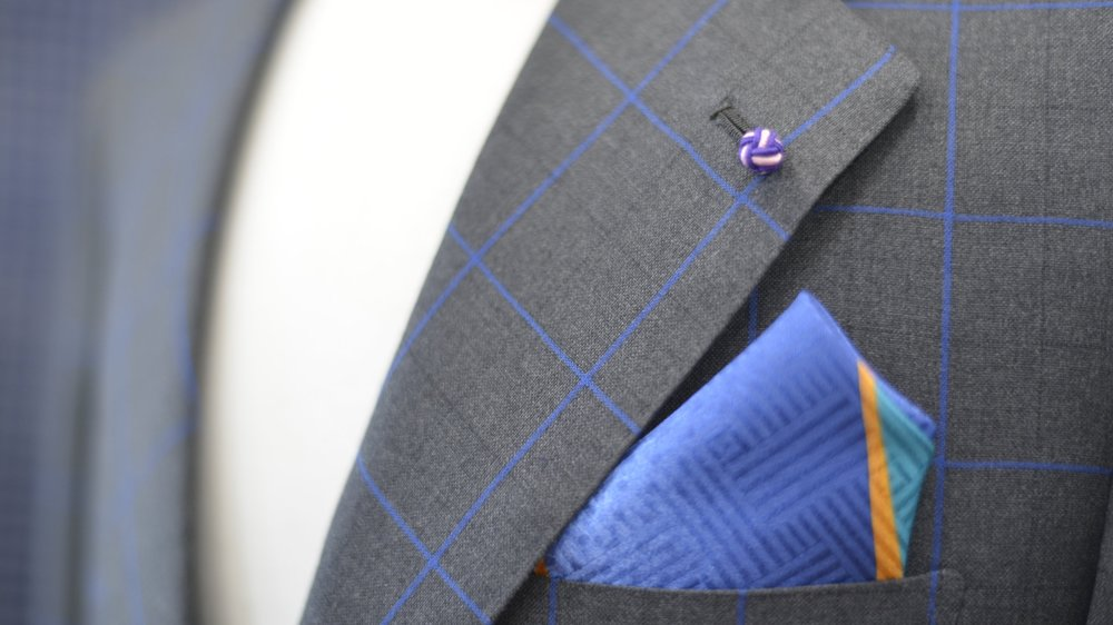 Fit - Try on your custom suit, and make alterations. One to two further fittings may be required for the perfect suit.