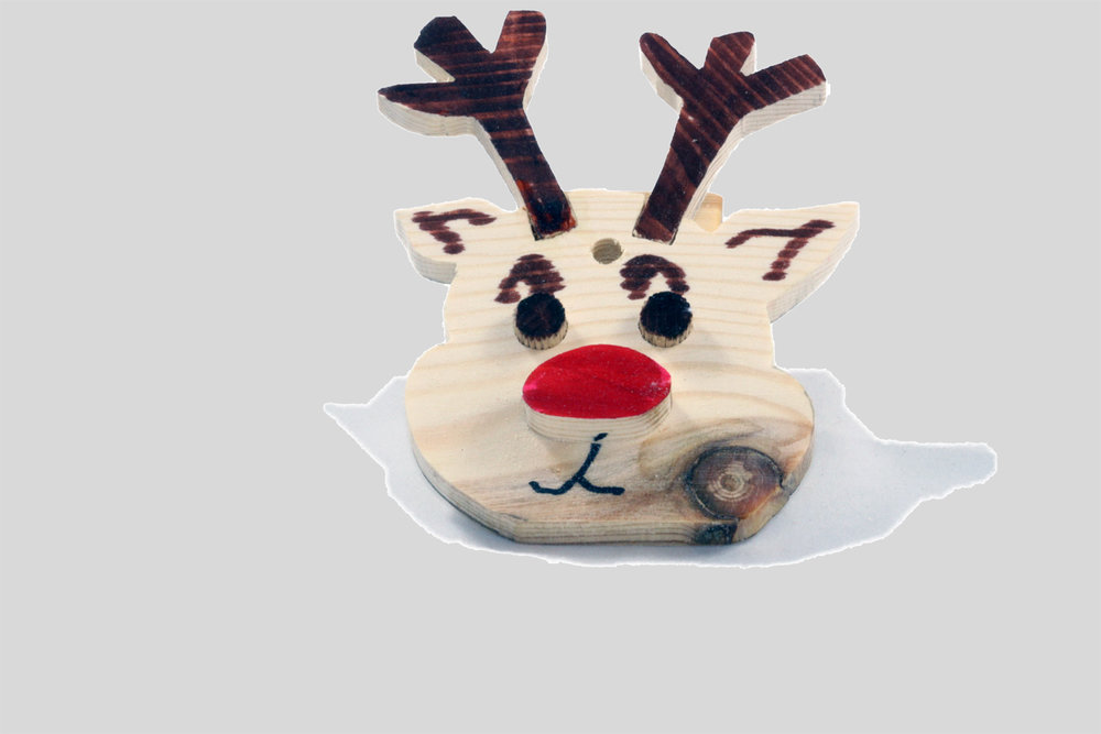 Make your own Christmas Decorations [Rudolph]
