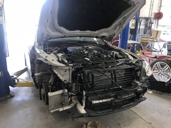 Once this BMW 650i was dismantled and a full diagnosis done, there was many missed items by the insurance appraiser.