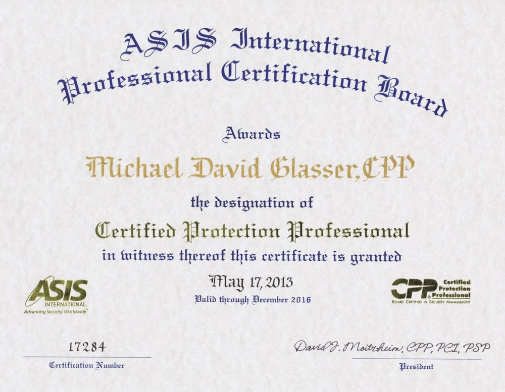 Michael Glasser Glasser Security Group