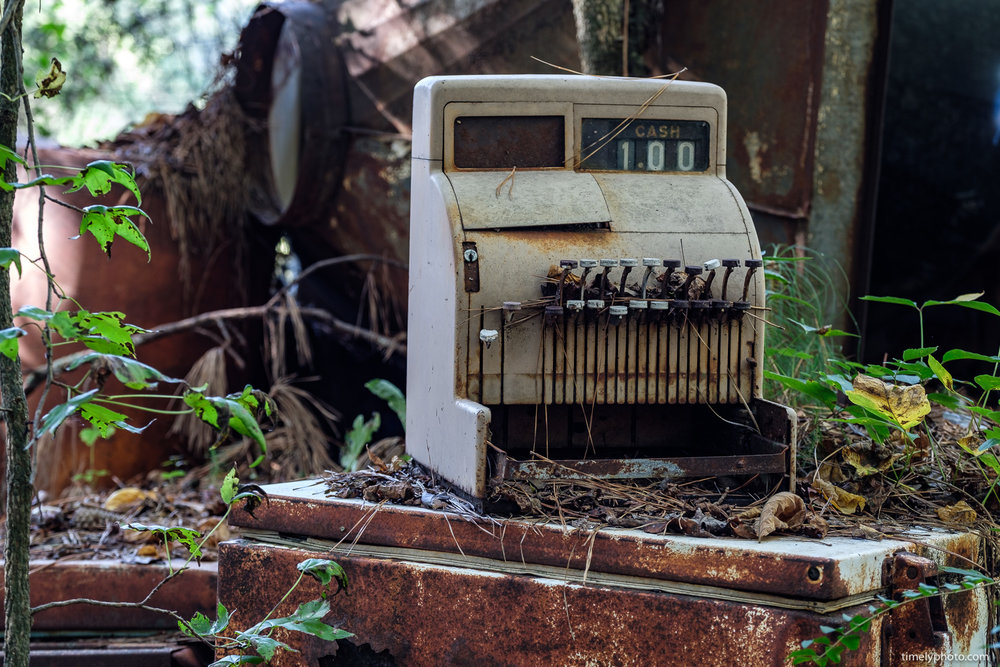 Abandoned Cash Register. Part of the Americana series by Chris Lee