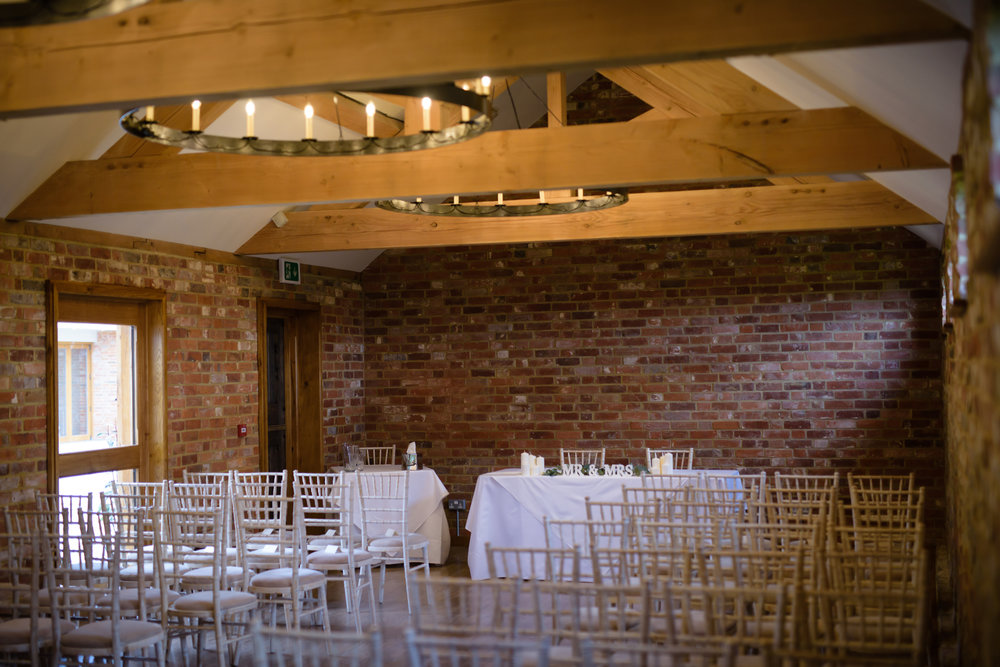 - Our original stables have been lovingly transformed into a beautiful indoor ceremony room, boasting large wooden beams and original brickwork.With a maximum capacity for 115 seated guests, we can ensure all of your loved ones are with you to witness your special day and exchange of vows.