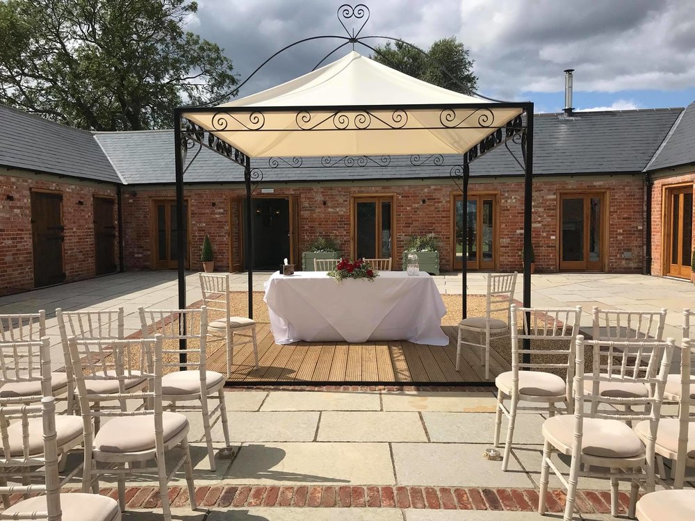 - If there is rain forecasted, we will simply move you and your wedding party inside to host your ceremony in the Stables.