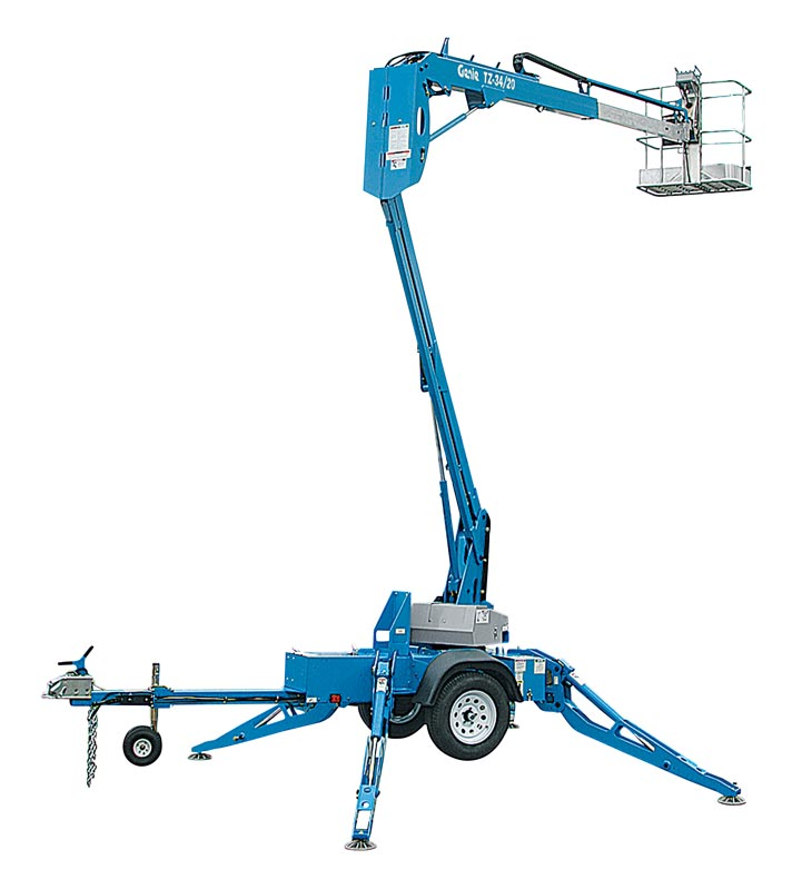 Genie TZ34 - Electric Tow behind articulated lift 34'