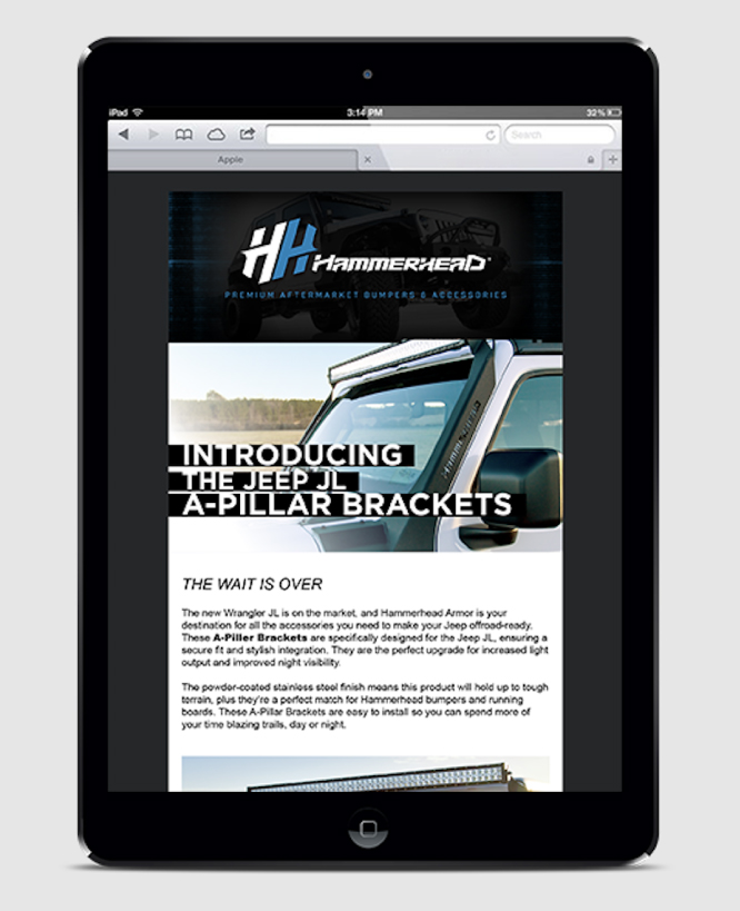 HAMMERHEAD ARMOR    Email Marketing