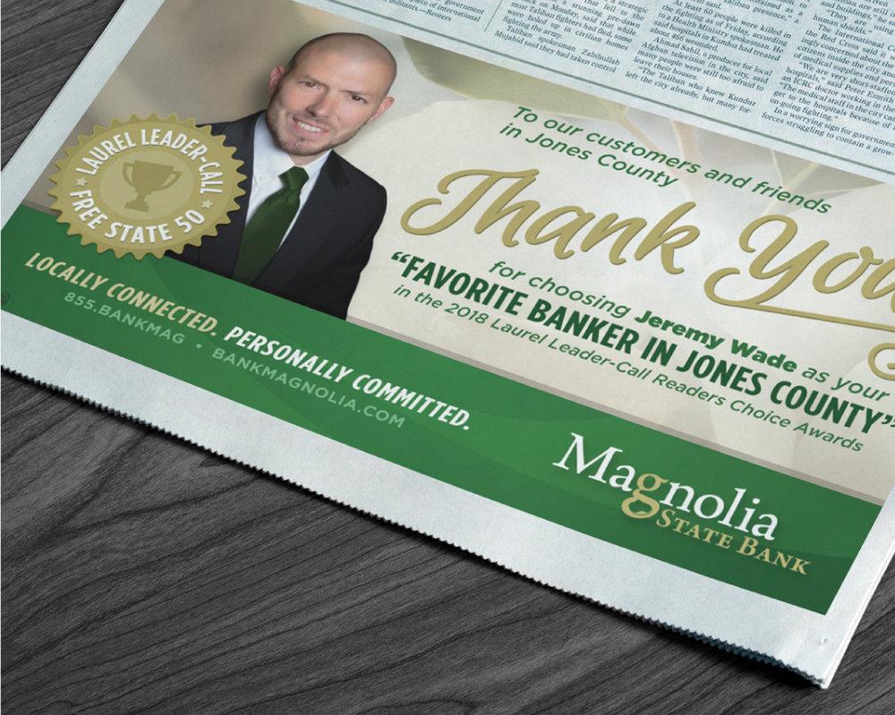 MAGNOLIA STATE BANK    Newspaper Ads