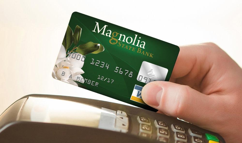 MAGNOLIA STATE BANK    Credit & Debit Card Design